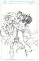 Superman and WOnder Woman! by Sandoval-Art