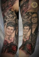 portrait of parents roses bg 2 by 2Face-Tattoo