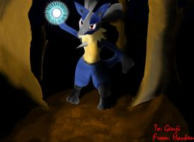 Gift Art: Lucario by King-Hauken