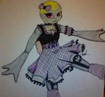 Gothic Punk Opal - TMNT OC Dress Up by The-CyanideRomantic