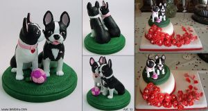 Boston Terriers by painteddog
