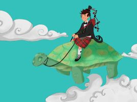 Flying the Tortoise by CatalystOfTheSoul