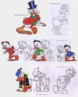 Duck Carl Barks Sketches by marceldesign