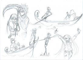 MistyX-reborn - One hell of a job doodles 1 by Alizarinna