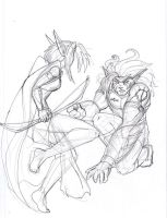 sketchy battle thing by Golden-Dragon-Girl