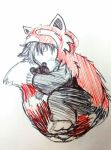 Max - Red Panda curled up by dcrisisbeta