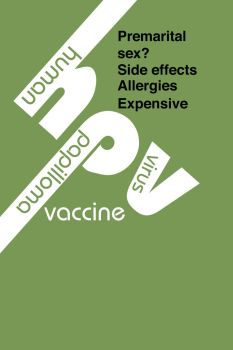 Typographic Against HPV vaccin by StephanieNicole1002