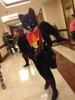 Black Wolf Fursuit Anime Boston 2012 by DantesTobari
