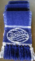 Water Bending Scarf--Navy by ashesonfire