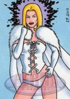 White Queen Sketch Card by ElainePerna