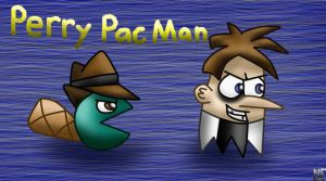 Perry Pac-Man in Motion by Honeysucle10