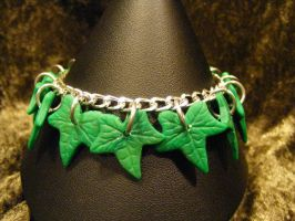 ivy leaf bracelet by BacktoEarthCreations