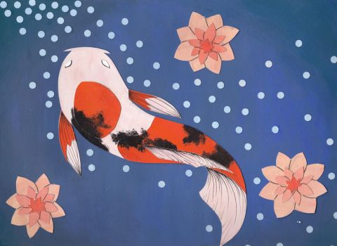 Koi Fish by hiddenwriterspirit