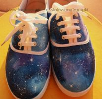 GALAXY painted sneakers :) by karka17