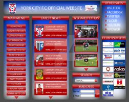 York City F.C Website Design by DefiantArtz