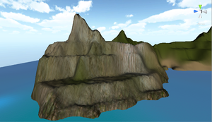3D game Design, a few flicks of island by pilkingtoez