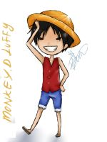 monkey d luffy by XxHaneyshxX