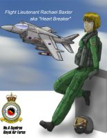 RAF fighter pilot - coloured by xxxsteelgearxxx