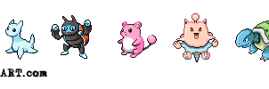 Beta Pokemon Sprites vol.1 by hamsterSKULL