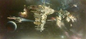 X-Wing Patrol by lifes2shor