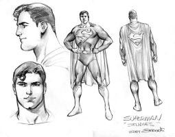 SUPERMAN STUDIES by eddybarrows