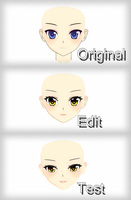 New OC and edit face [W.I.P.][MMD] by Deiroko