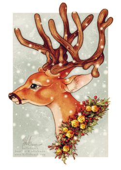 Holiday Reindeer Bust by HeatherHitchman