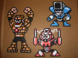 Megaman bead bosses 07 by zaghrenaut