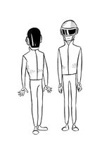 daft punk by CalmingSoul