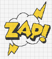 ZAP comic sound effect pattern by RawrrThePeowPeow