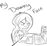 My drawing face by l-Blair-l