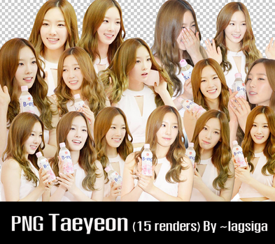PNG Taeyeon [15 renders] by ~lagsiga by lagsiga