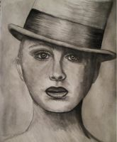 Woman in a Top Hat by sapphiresphinx