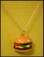 The Good Burger -- Necklace by poketheyolk