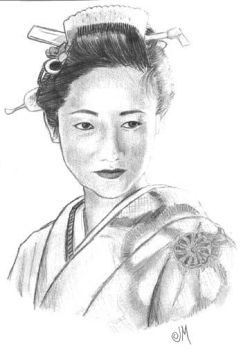 Traditional Japanese Girl by killowlsdead