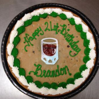 Shot glass on a cookie by AingelCakes