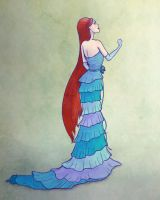 Ariel Designer Doll Drawing by Smangirl16