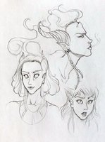 Draenei sketches by laceybrannen