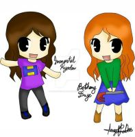 Cute BethanyFrye and ImmortalKyodai by AngelineDeeMG