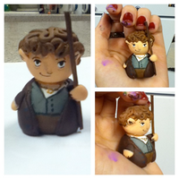 Bilbo Baggins Clay Figurine by Comsical