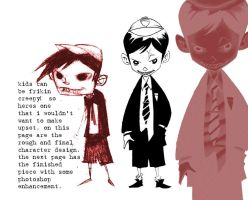 scary kid roughs by RM73