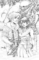 Final Fantasy X Tidus and Yuna by thejeremydale