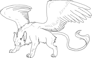 Free Griffin Lineart by Arsyia