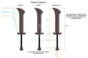 Demon Cleaver, LARP Sword by Hellwolve