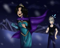 Switching places with Elsa by NamyGaga