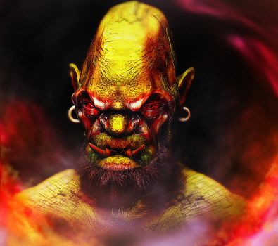 Orc Zbrush Beauty Render by anarchisticmoosebear