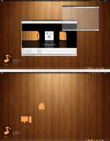 Wood desktop by leoatelier