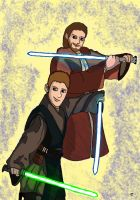 Master and Padawan: Obi - Wan and Anakin by Giorgia99
