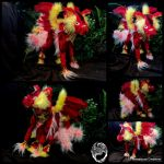 Handmade OOAK 9-tailed Kitsune Poseable - SOLD by SonsationalCreations