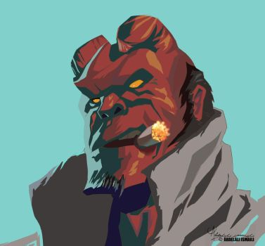Hellboy Fan Art by arabdel